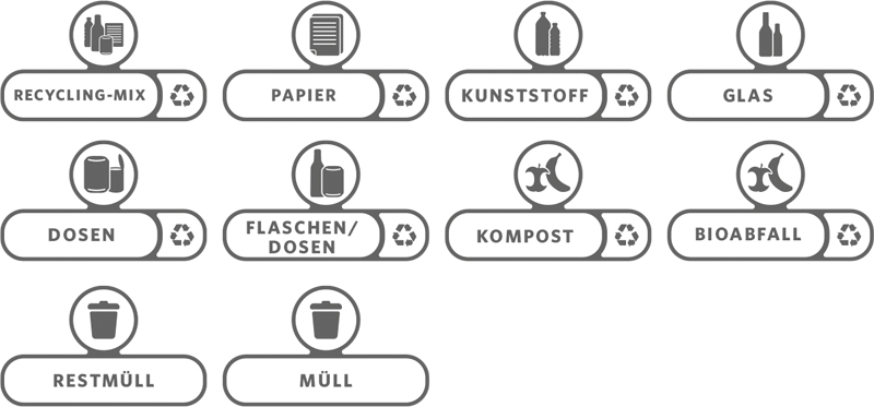 Labelset Duits, Rubbermaid